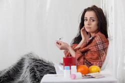 Повышение температуры при ангине
