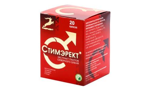 Препарат Стимэрект российского производства создан на основе пантов самцов северных оленей и стеарата магния