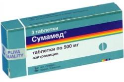 Таблетки Сумамед от лакунарной ангины
