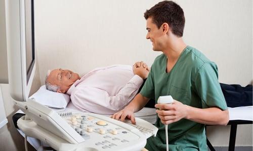 Во время УЗИ, врач устанавливает объем аденомы, используя автоматические методы расчета или специальную формулу