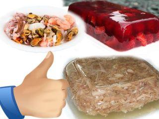 Блюда с натуральными коллагенами полезны для хрящей