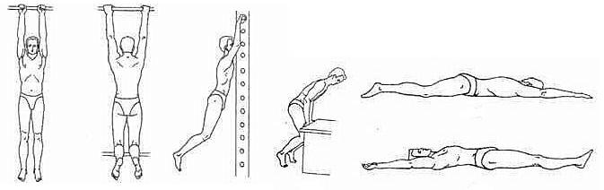 Упражнения на вытяжку позвоночника