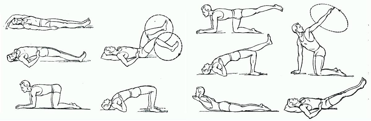 Реабилитационные упражнения следует выполнять с особой осторожностью