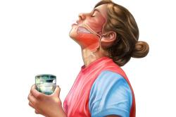 Процедура полоскания горла