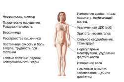 Проявления гипертиреоза