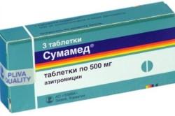 Сумамед для лечения лакунарной ангины