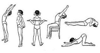 Несколько простых упражнений при сутулости
