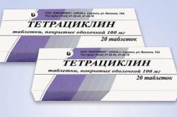 Тетрациклин для лечения поноса у детей